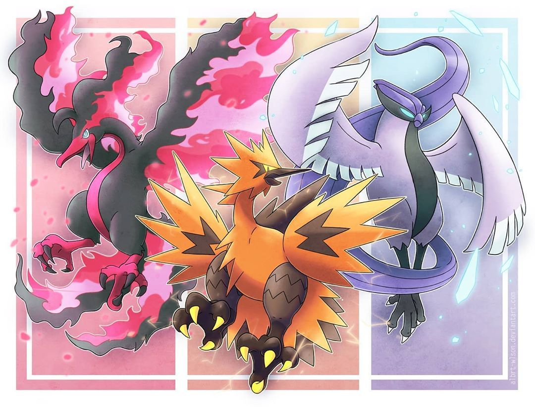 "albrtwlson on Instagram ""Moltres, Zapdos and Articuno in"