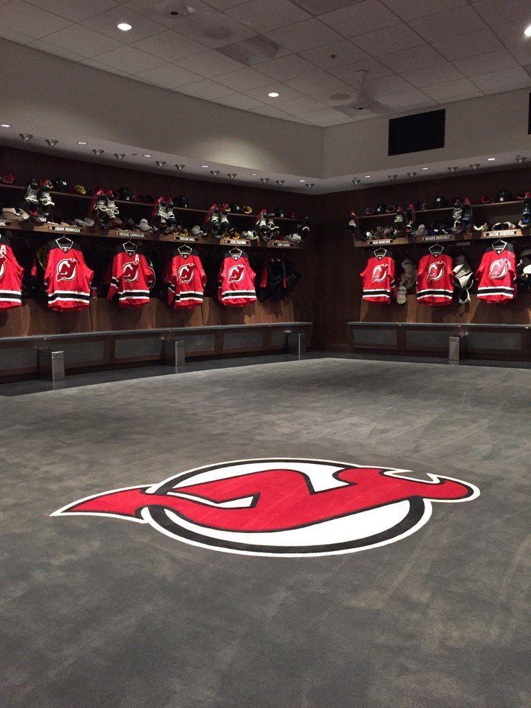 2d21d5808 New Jersey Devils Locker Room