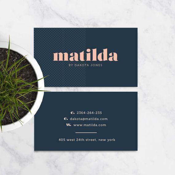 NEW DIY Business Card Template Matilda A Bold Modern And - Diy business card template