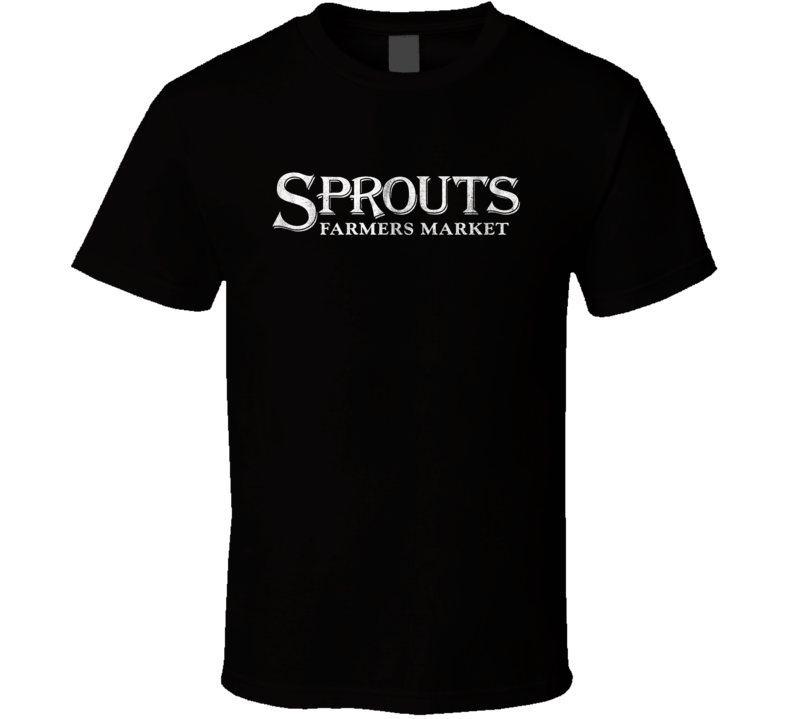 Sprouts Farmers Market Grocery Store Company Logo Vintage Grunge Look T Shirt Cool T Shirts T Shirt Shirts