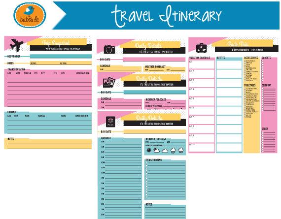 Editable Digital Planner Travel Planner Printable Vacation Etsy Vacation Planner Template Travel Planner Vacation Planner