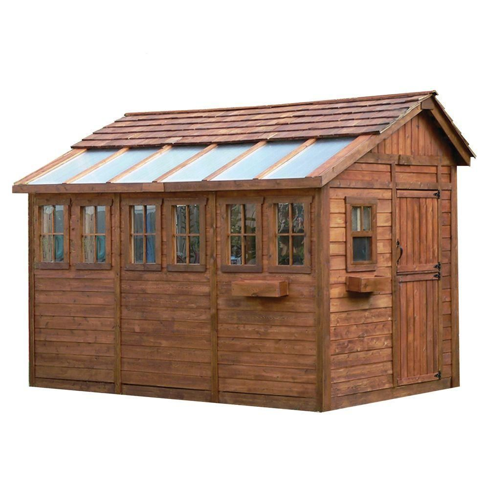 Outdoor Living Today Sunshed 8 Ft X 12 Ft Western Red Cedar Garden Shed Ssgs812 The Home Depot About 4 000 Shed Plans Wood Shed Plans Shed Building Plans