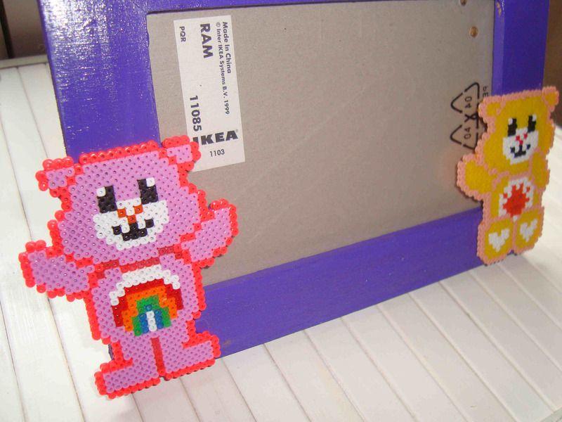 Photo frame Care Bears hama beads - Pixulandia | Hama