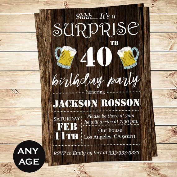 Cheers And Beers Printable Invitation By DIYPartyInvitation CheersandBeers PartyIdeas Man
