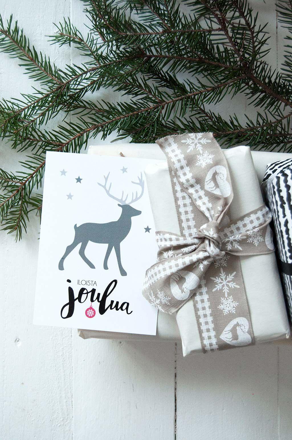 joulukortti poro kortti christmas card