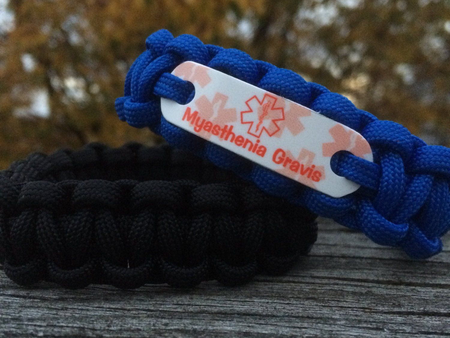 by raise all show bracelet teal uterine fordscordandsupplies paracord ovarian and support awareness for myasthenia cervical gravis pin