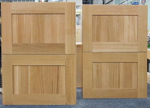 White oak cabinetry is typically custom options and often quarter-sawn for custom cabinetry sporting an Arts and Crafts or period look.