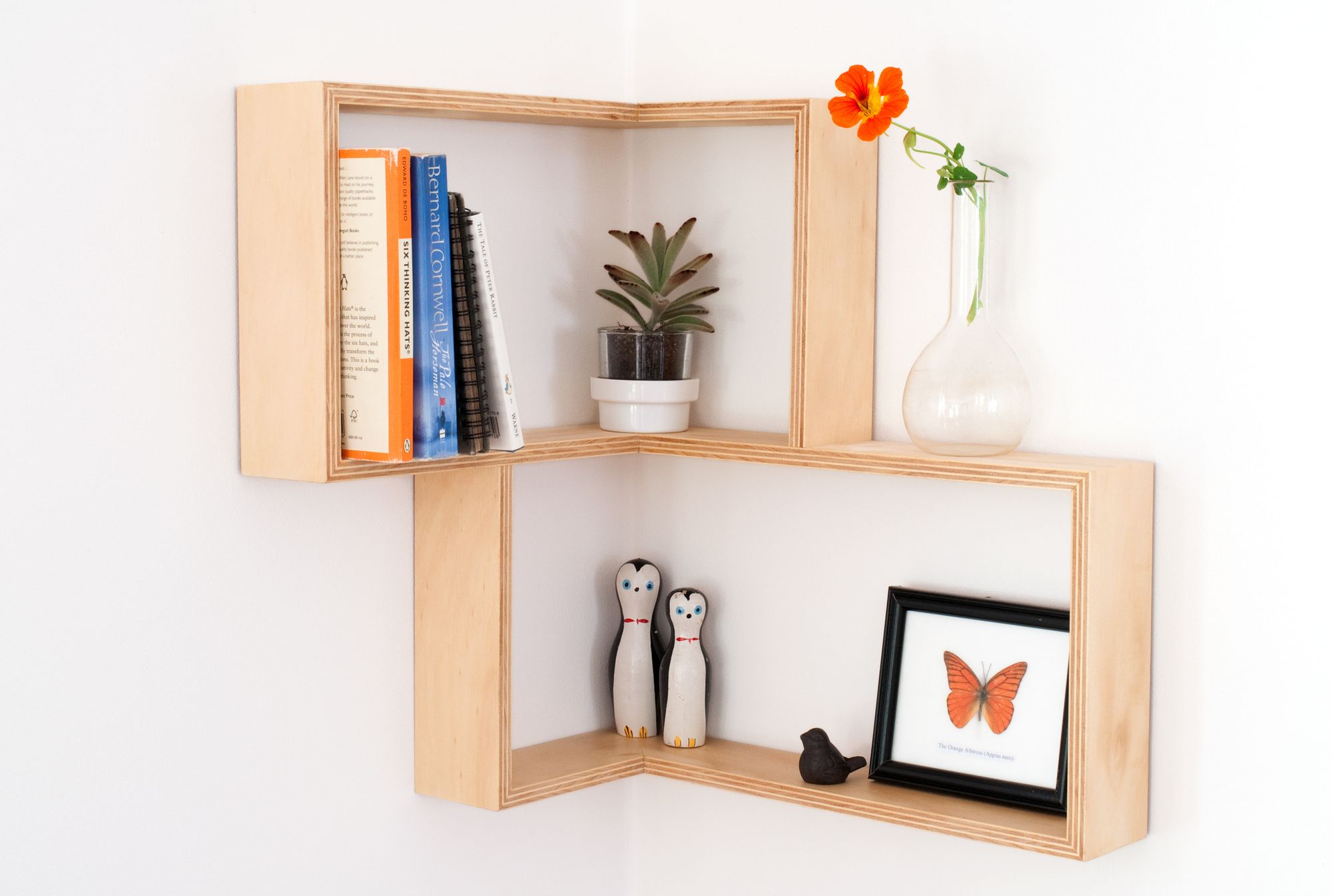 Delightful Corner Shelf: Display Cabinet Book Shelves Shadow Box Retro Vintage  Mid Century In Home U0026 Garden, Furniture, Bookshelves