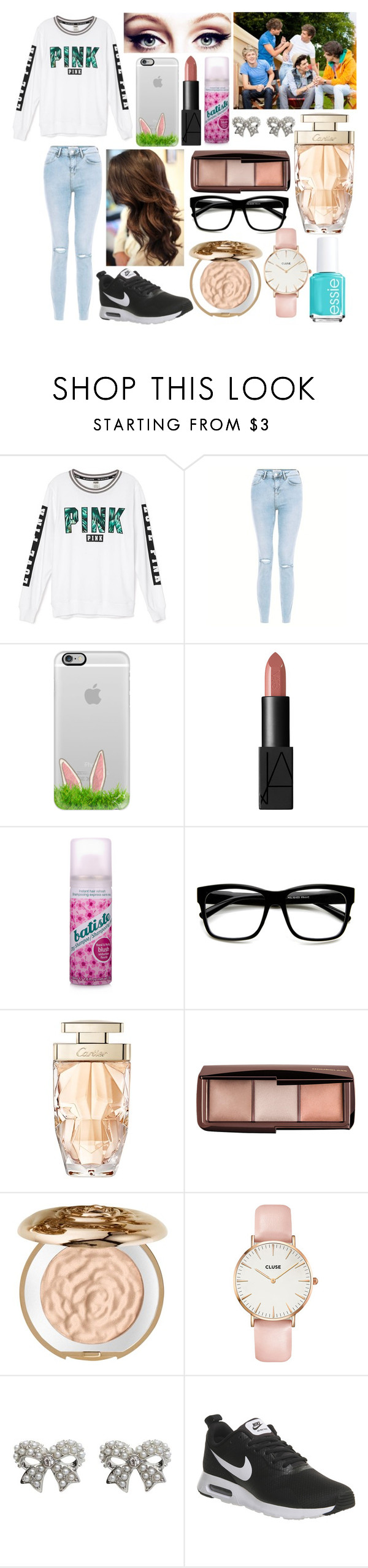 """""""Casualty Love"""" by qwerty-16-polyvore ❤ liked on Polyvore featuring Victoria's Secret, Casetify, NARS Cosmetics, Batiste, Retrò, Cartier, Hourglass Cosmetics, Chantecaille, CLUSE and M&Co"""