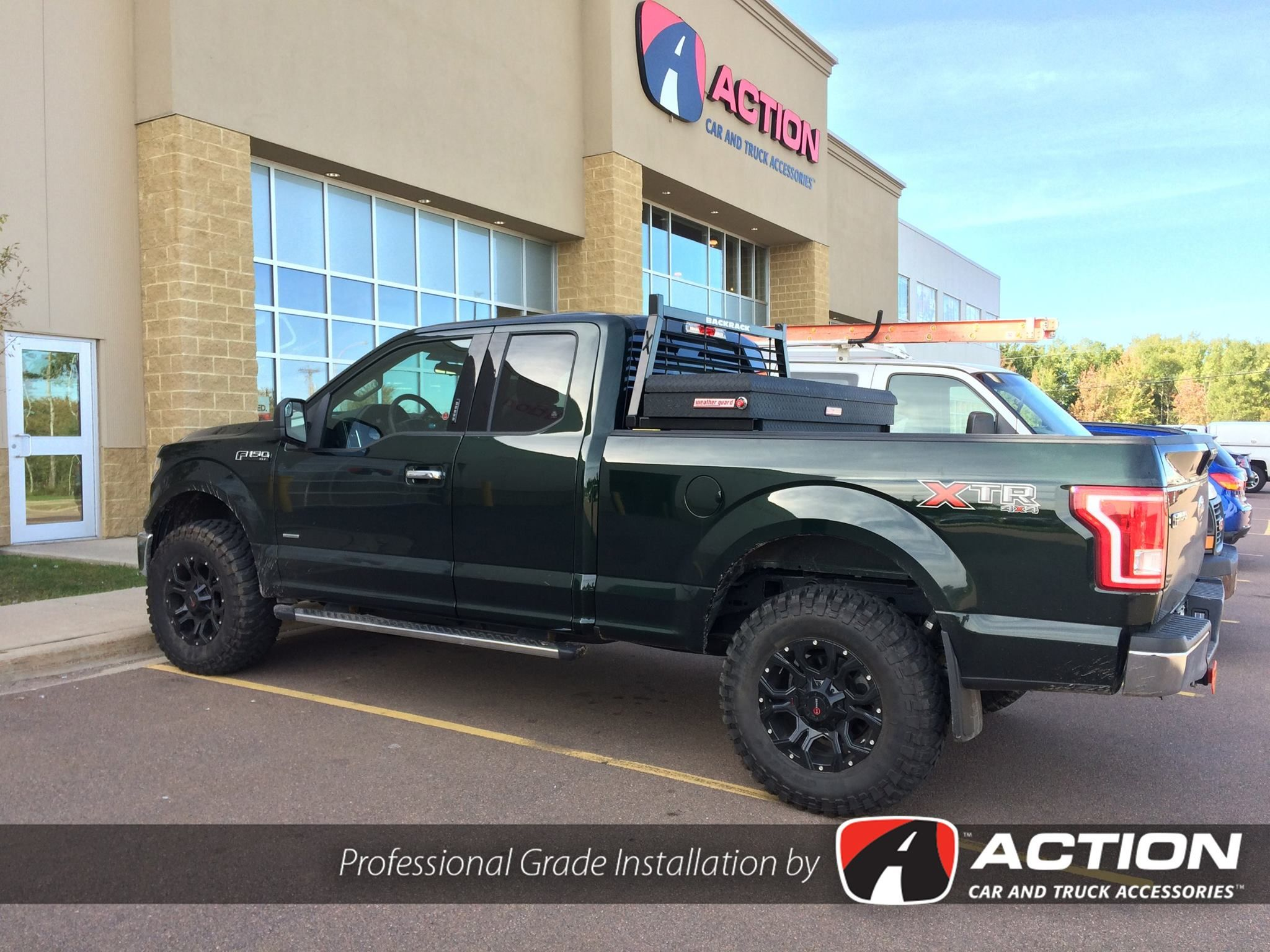 A New Ford F150 At Our Store In Moncton Nb With Installed