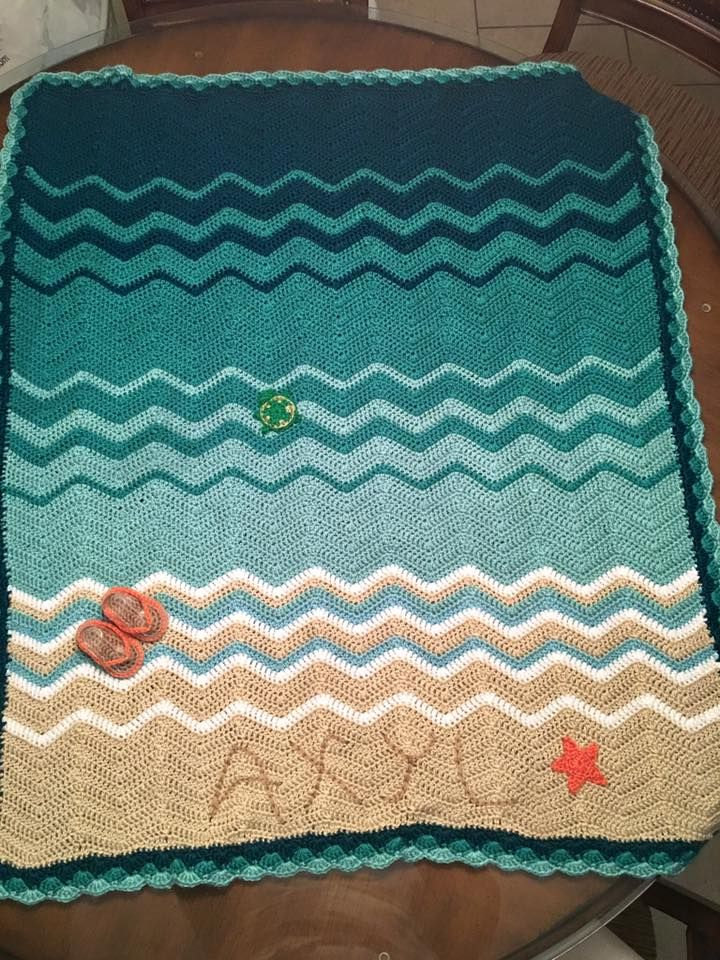 Crochet Beach Baby Blanket