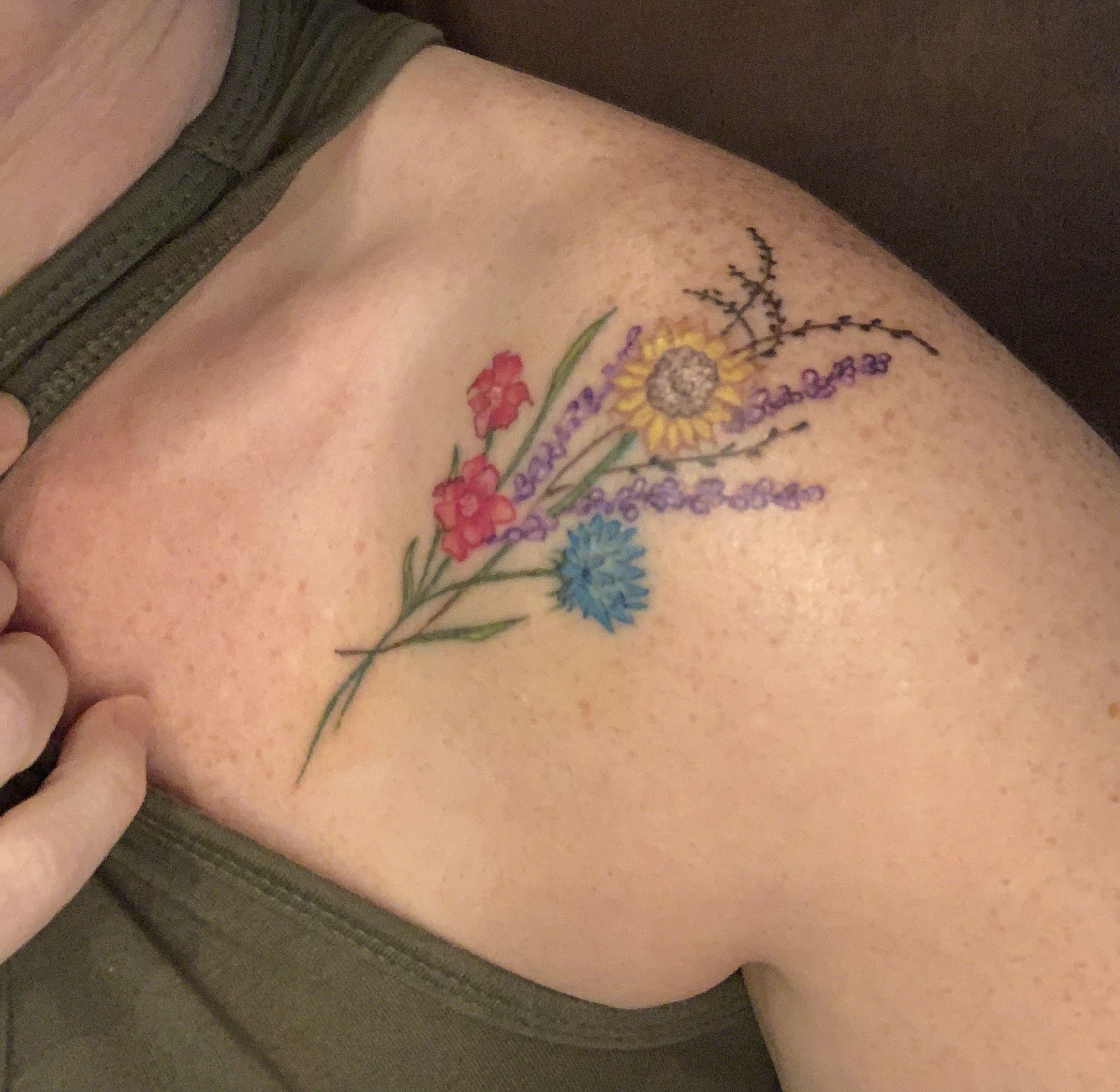 Collarbone Tattoos All Color Single Needle Cosmo Eclipse