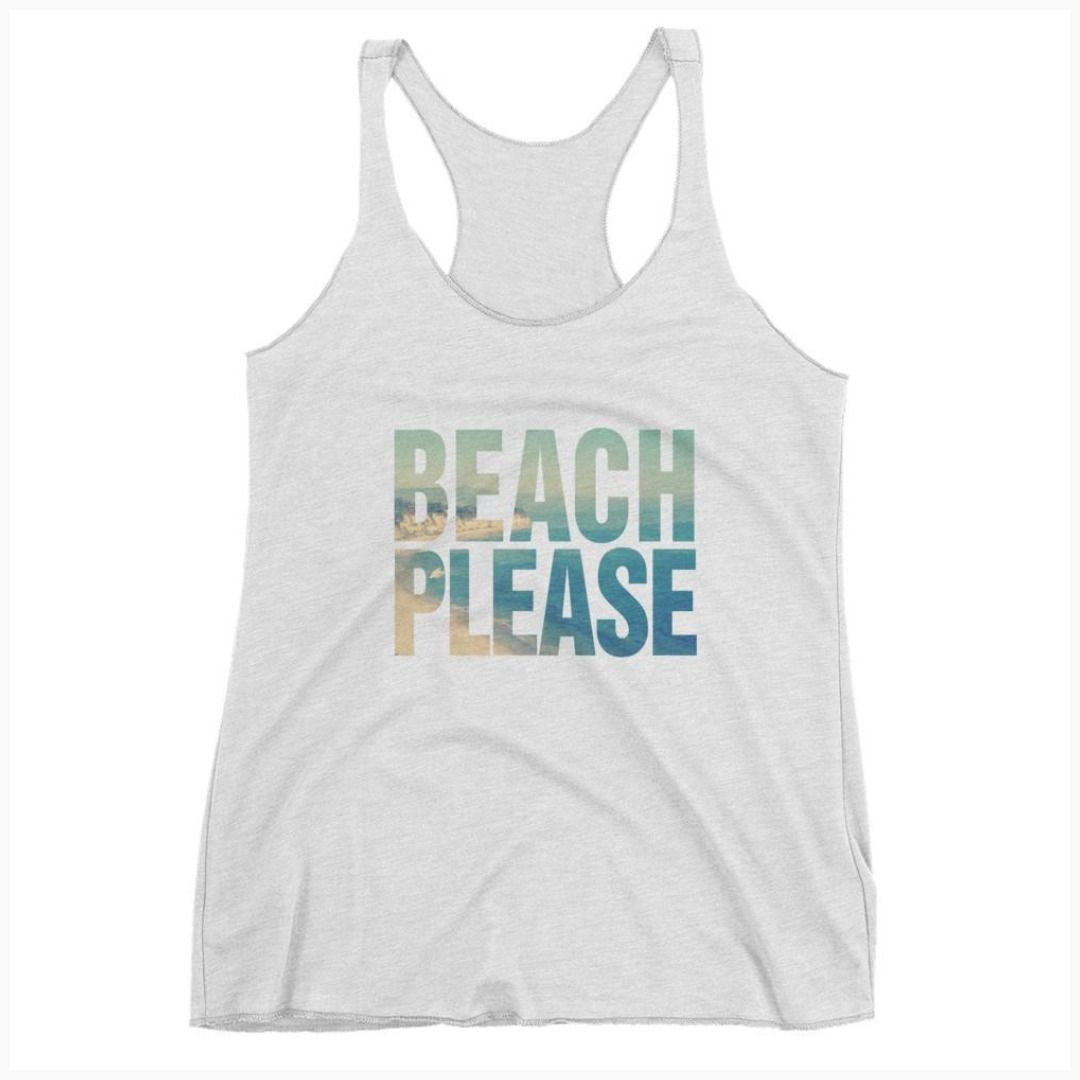 Beach please womens vintage tank top trendyltshirt