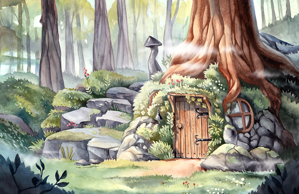 картинки сказочного домика в сказочном лесу романтического свидания