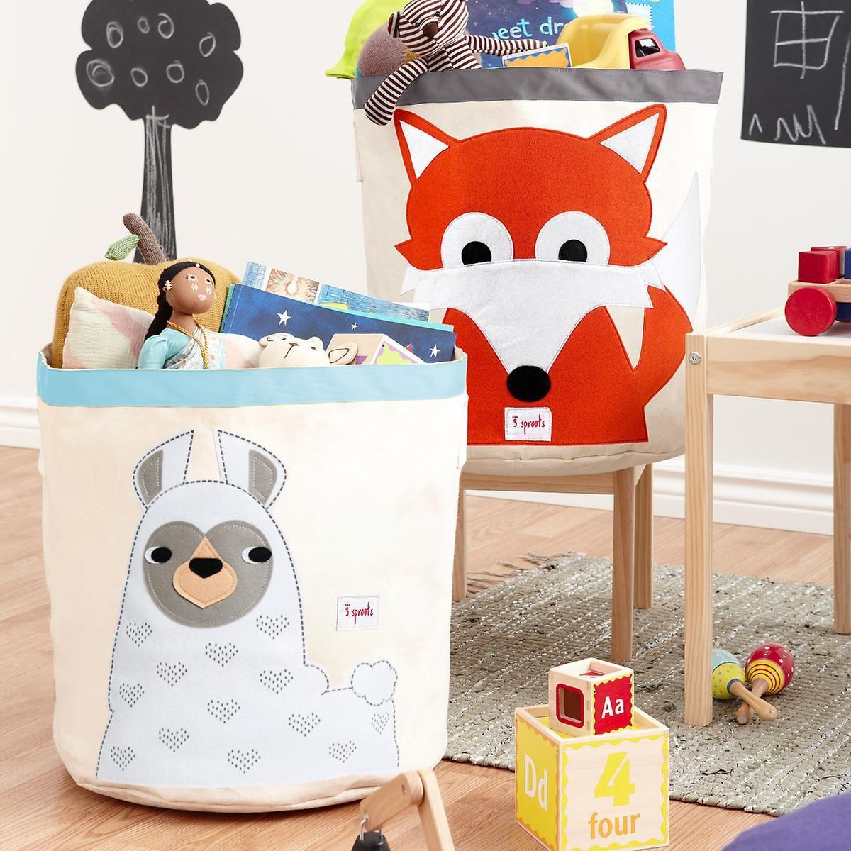 3 Sprouts Llama Canvas Toy Storage Bin Canvas Toy Storage Toy Storage Bins Toy Storage