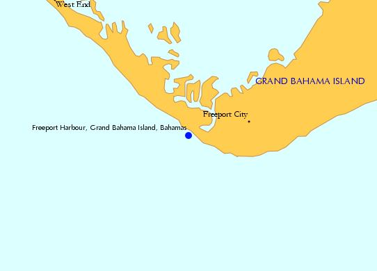 Locator Map Freeport Harbour Grand Bahama Island Bahamas