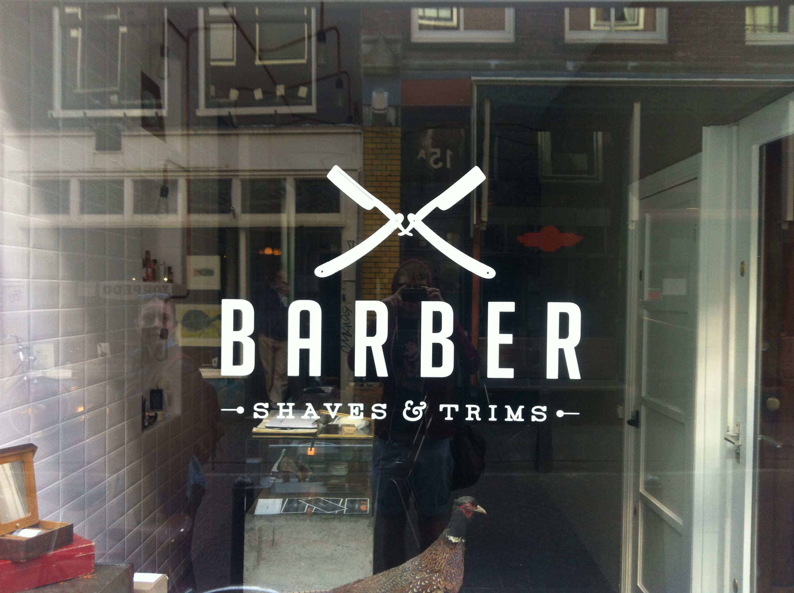 Old barber shop window - Old Barber Shop Window