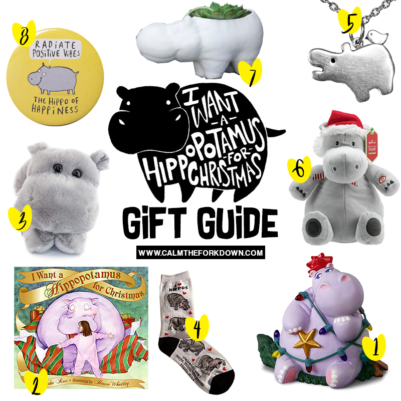 I Want A Hippocampus For Christmas.8 Gift Guide Ideas For Any Hippopotamus Lover