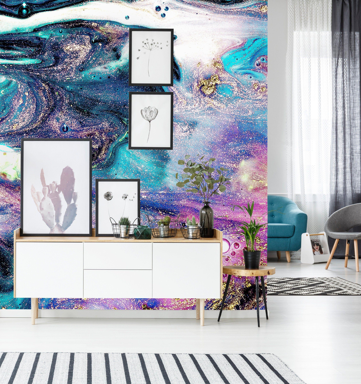 Cool Tones Watercolor Wall Mural 522 In 2021 Watercolor Walls Wall Murals Wall Wallpaper