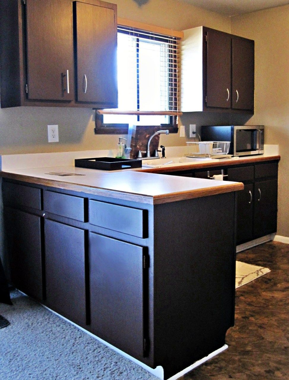 Painting your kitchen cabinets black - Ideas Kitchen Cabinet Paint Kitchen Cabinet Painters Kitchen Cabinet Painting Cost Home Improvement