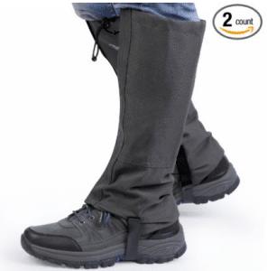 1 Pair Waterproof Outdoor Hiking Walking Climbing Hunting Snow Legging Gaiters