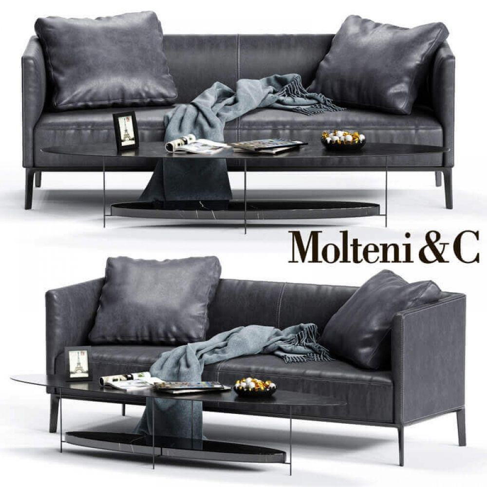 Divano Camden Molteni Molteni C Camden Low Backrest Sofa 3d Model Price Render