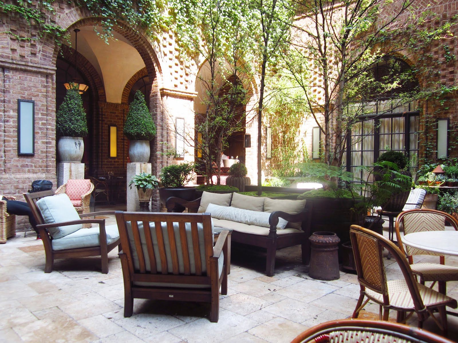 courtyard at the greenwich hotel in nyc my home away from home