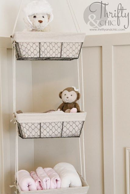 Thrifty And Chic Baby Room Storage Baby Storage Hanging Storage