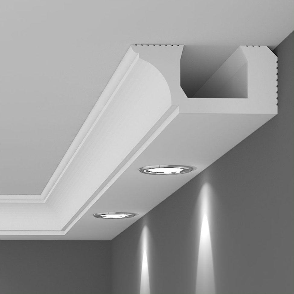 Moldura Iluminacion Indirecta Diseno De Techo Diseno De Techo Moderno Acabados De Techo