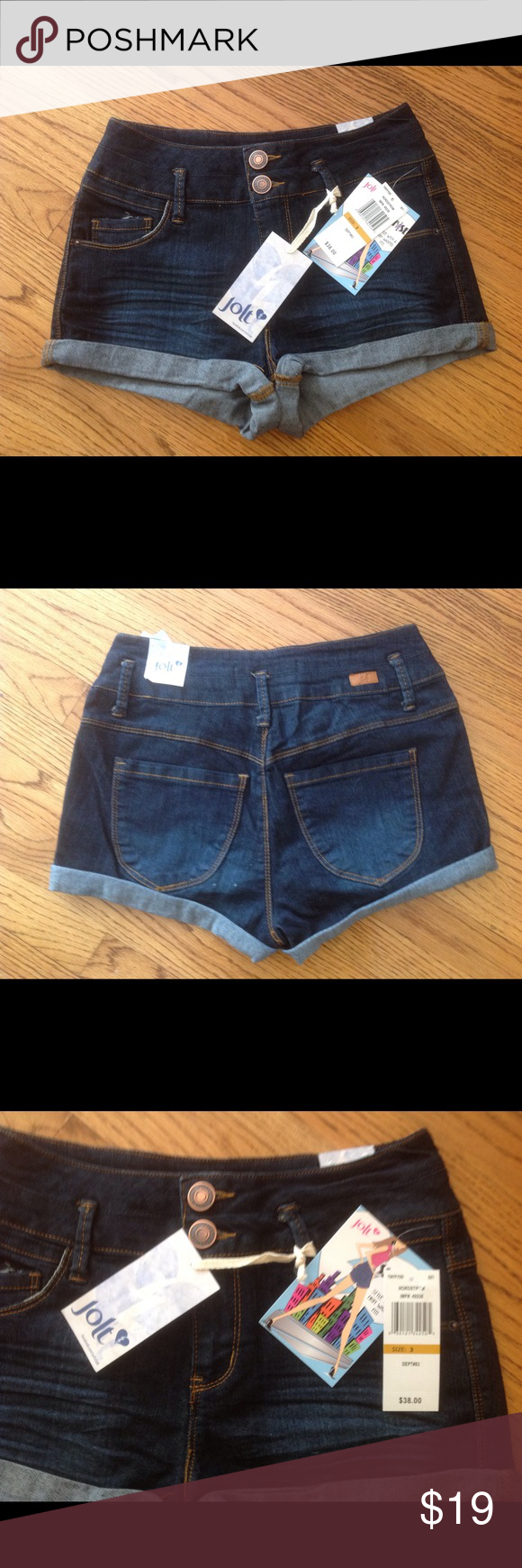 Jolt high waisted jeans shorts Great high waisted brand new jeans shorts by Jolt! ❤️ Sold in Nordstrom for $38!!! ❤️ ☀️Spring break is almost here and summer festivals too! ❤️ Jolt Shorts Jean Shorts