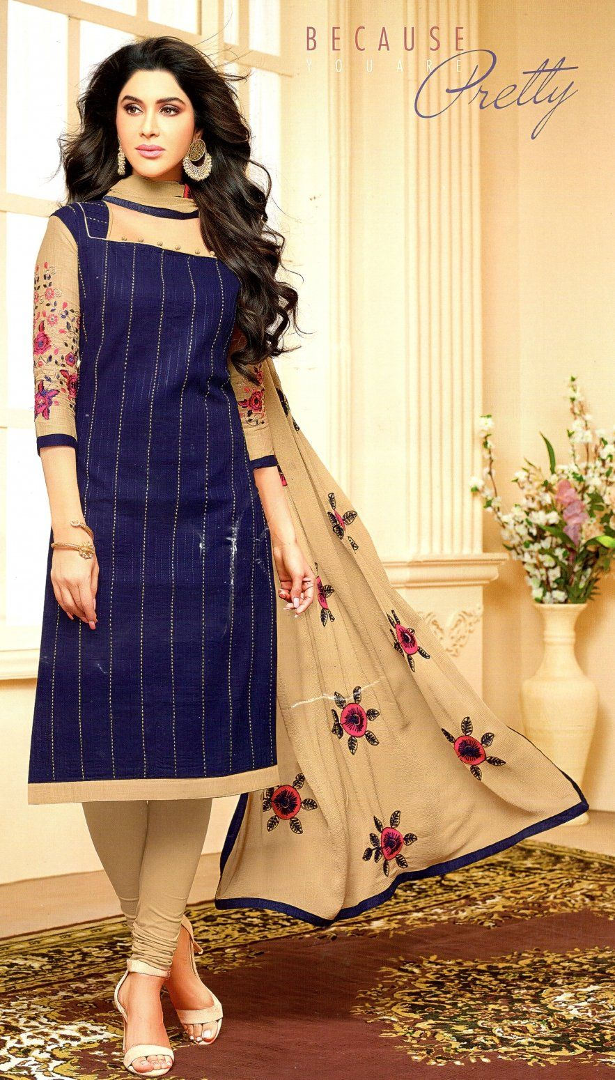 ad741cc653 Buy Mahati cotton unstitched Dress Material (Dark Blue) Online at Low prices  in India on Winsant, India fastest online shopping website. Shop Online for  ...