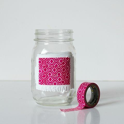Desk Organizer Ideas with Mason Jars