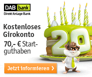 Kostenloses Girokonto Bei Der Dab Bank Mit 70 Startguthaben Top Girokonto Guthaben Kostenlos