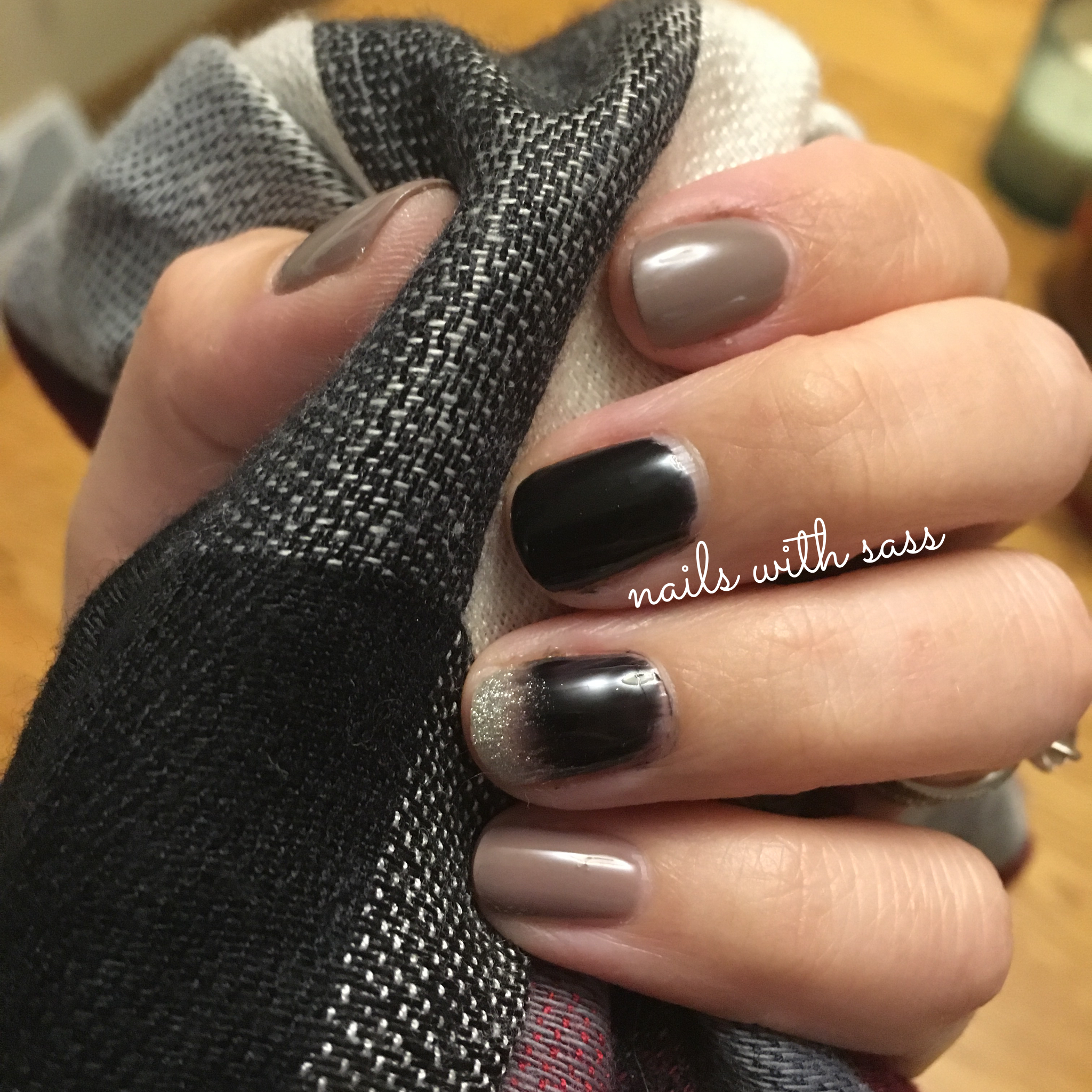 Loving This Neutral Ombre Nail Art Using Gelmoment Ravens Kiss Echoes Of Paris And Chandelier Nail Art Ombre Nails Ombre Nails