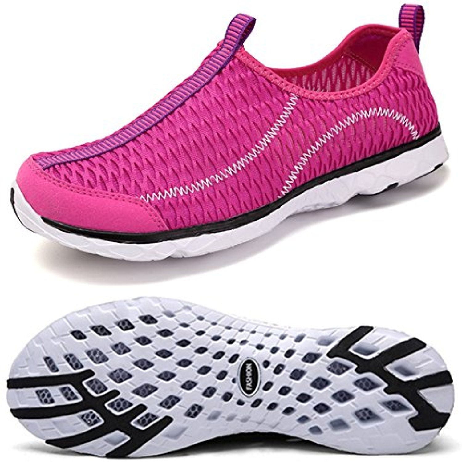 74c8367e9391b7 Womens Mens Water Shoes Quick Drying Slip-on Beach Running Shoes  Lightweight Aqua Water Sneakers -- Learn more by visiting the image link.