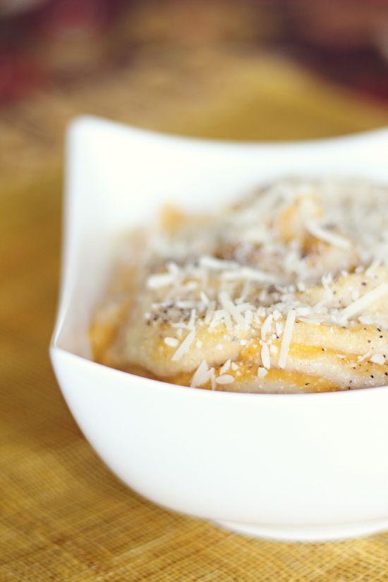 mashed cauliflower and butternut squash swirl
