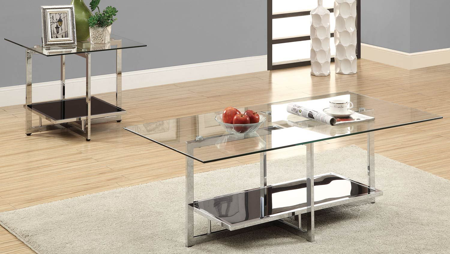 Coaster 70163 Occasional Set Coffee Table Home Coffee Tables Contemporary Coffee Table [ 846 x 1500 Pixel ]