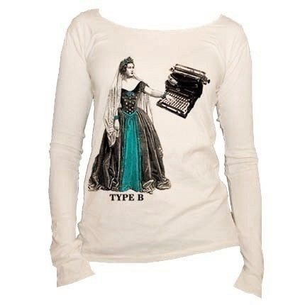 TYPE B  Organic Cotton Tshirt  Long sleeve by LookForFiddleheads, $28.00