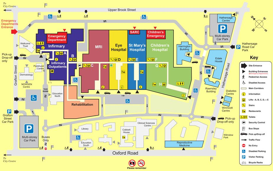 Manchester Royal Infirmary Map map of manchester royal infirmary hospital   Bing Images | miss