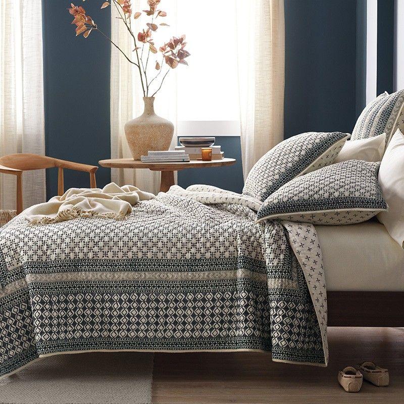 Haywood Reversible Cotton Voile Quilt In 2020 Voile Quilts Interior Design Furniture Print Bedding