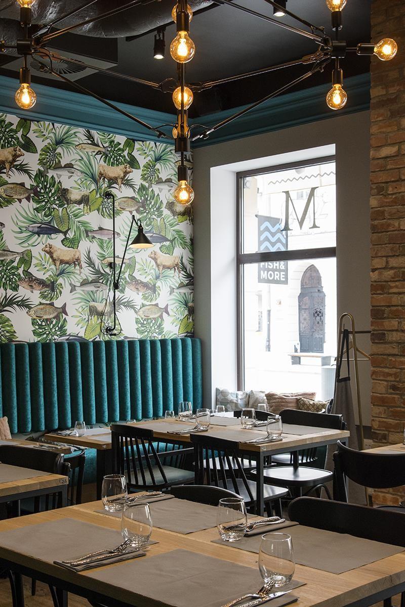 Fish More Wyjatkowe Wnetrze Wyjatkowe Menu Pln Design Decor Interior Design Restaurant Interior Design Design