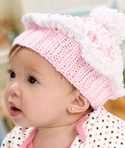 Knit Cupcake Hat Free Pattern from Red Heart Yarns | Baby Cutesies ...