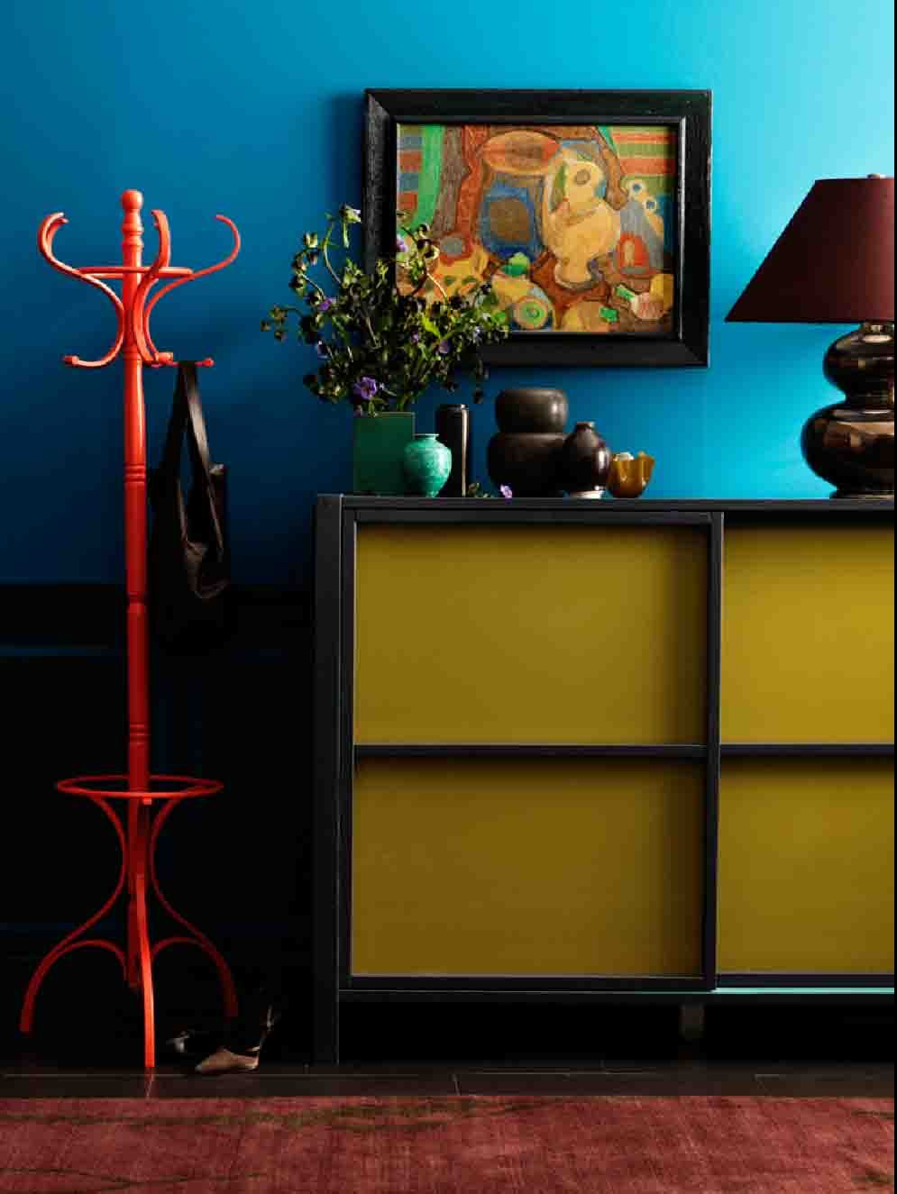 blue.yellow.red! | Spaces | Pinterest | Interiors, Yellow and Colors