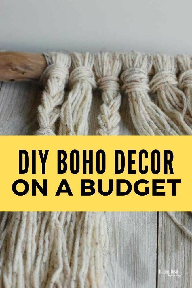 DIY Boho Chic Yarn Wall Hanging Tutorial
