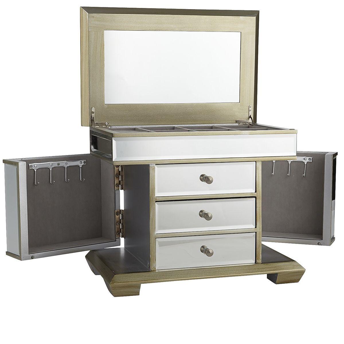 Mirrored Jewelry Box Champagne Pier 1 Imports