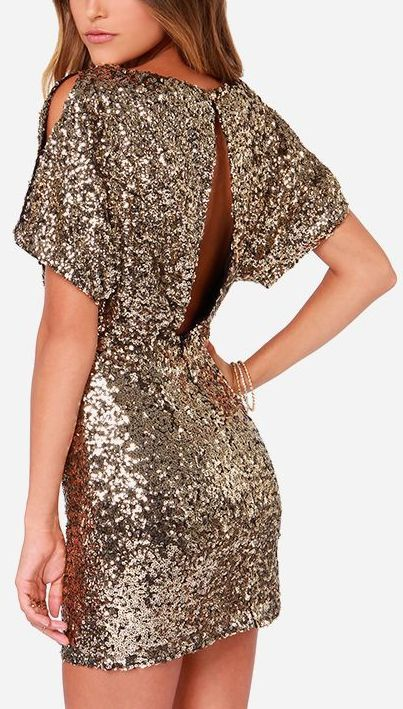 Gold Sequin Mini Dress #NYE #Halloween | My Style & Fashion ...