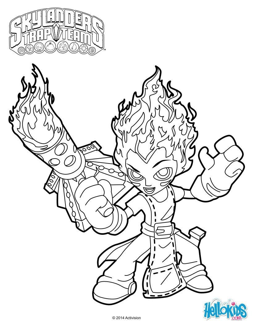 skylanders trap team coloring pages - torch | coloring pages ... - Skylanders Coloring Pages Jet Vac