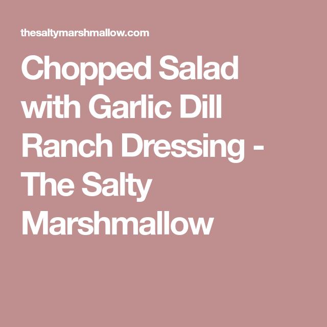 Ham & Cheese Chopped Salad With Garlic Dill Ranch