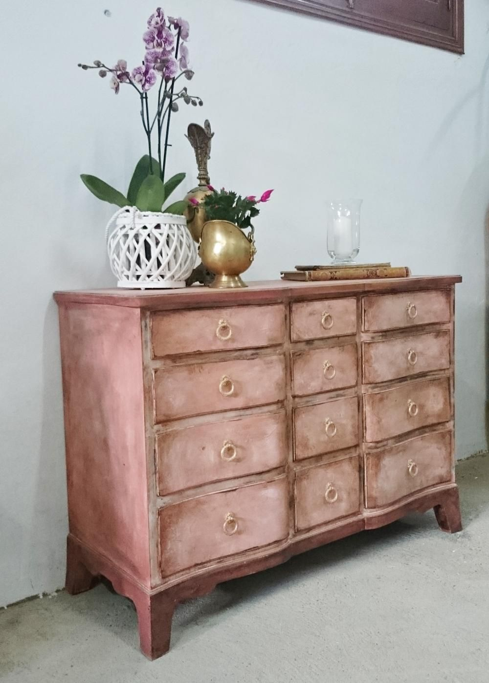 Antigua C Moda Estilo Ingl S En Rosa Antiguo Tienda Online De  # Rejuvenecer Muebles Antiguos