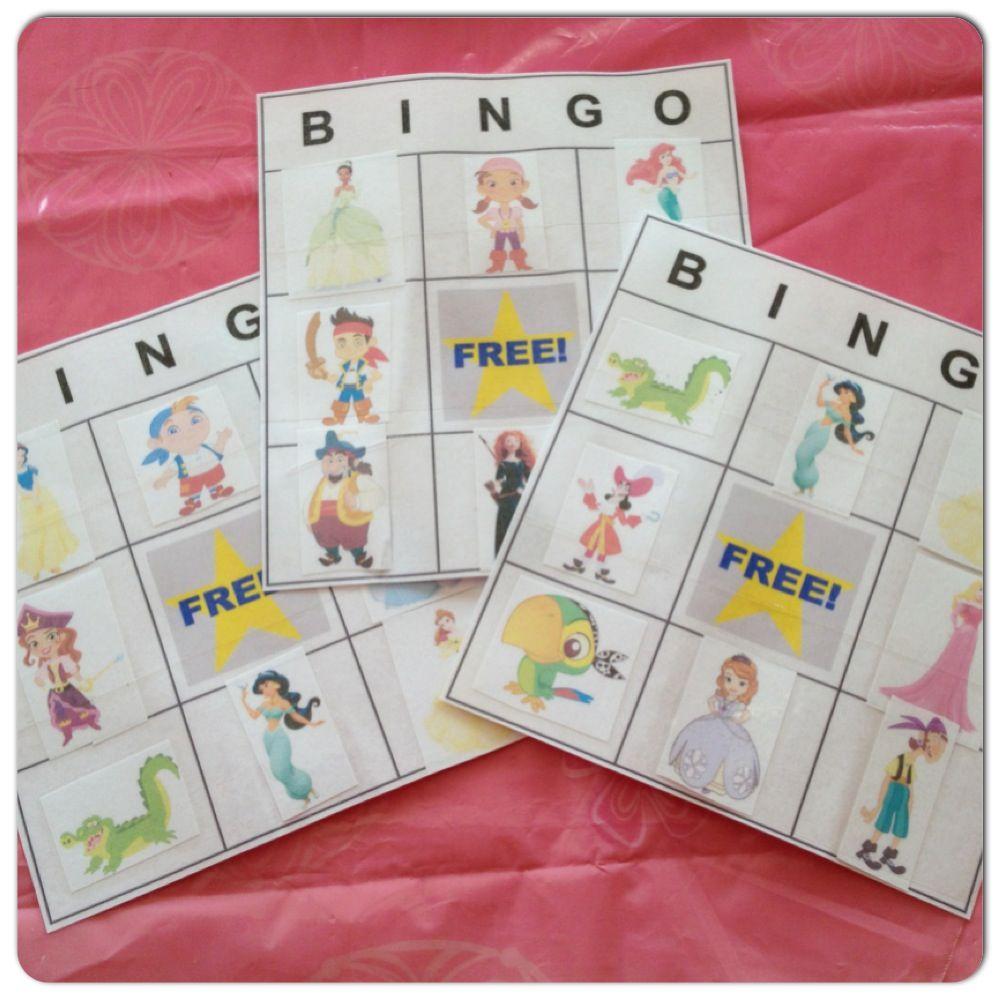 Princess & Pirate Bingo game I made. Go to http://www.dltk-cards.com ...